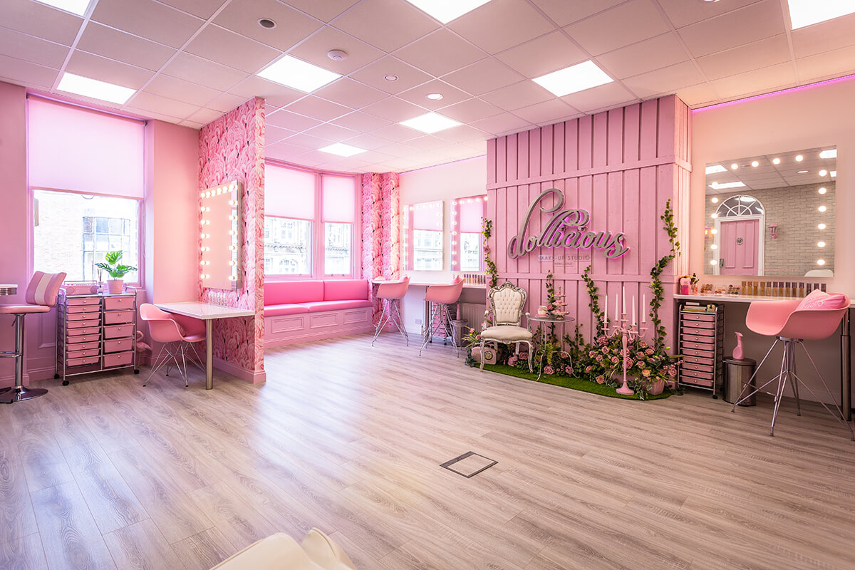 HiveTree converts office space in Newcastle for Dollicious makeup studio's relocation to the city